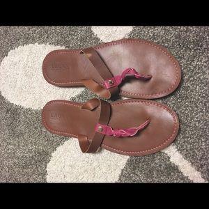 Ralph Lauren braided flip flops women's size 11
